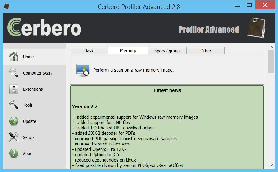 Profiler Advanced – Cerbero Suite